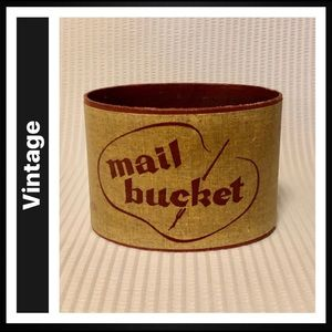 Vintage Mail Bucket with felt bottom